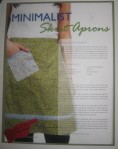 """Minimalist Aprons"" Apronology Vol 1, Issue 1 2009"