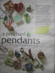 """Penchant for Pendants"" Cloth Paper Scissors July/August 2010"