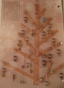 Mary Jane's Ruler Tree - Some of us saw this project in the December 2013 issue of Mary Jane. We HAD to do it. Come join us this Wednesday, December 10 @ 2:00. Be sure and let me know by Monday so I can gather up your supplies!