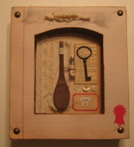 3 18 15 Found Art Shadow Box